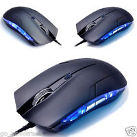New Cobra Optical 1600 DPI USB Wired Gaming Game Mouse For Games PC Laptop Black