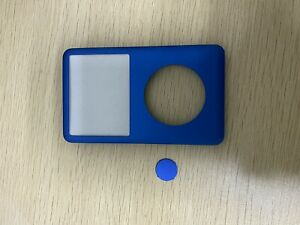 blue Front housing Cover faceplate+Button f Ipod Classic 6/7th  80/120/160GB
