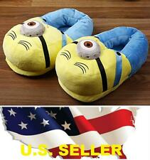 ❶❶*New*3D Eyes Despicable Me Minions Stuffed Plush Slipper Unisex Adult Shoes❶❶