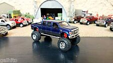 JADA Custom Truck 2008 Ford F350 6 Doors Cab Blue/Dark Gray Color DCP/PICKUP/TOY