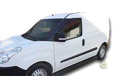 Fiat Doblo de 3 puertas 2010-up conjunto de frente viento desviadores 2pc Heko Teñido