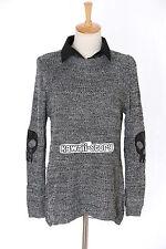 TH-11 Gr. XS-S Pullover Chiffon grau grey Skull Kragen Japan Trend Fashion