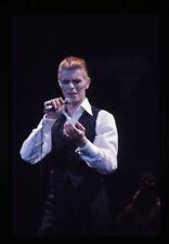 David Bowie Rare Concert Photo Vintage original 35mm Ektachrome Transparency