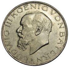Germany Empire Bayern 3 Mark silver coin 1914 D KM#1005 Bavaria XF-AU