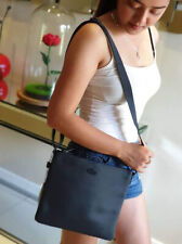 Genuine Leather Lacoste Women's Crossbody Bag - Navy Blue