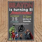Personalised DIGITAL MARVEL AVENGERS Kids Birthday Invitations YOU PRINT
