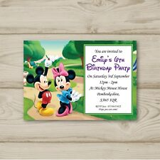 Disney Mickey Mouse Minnie Mouse Birthday Party Invitations Personalised