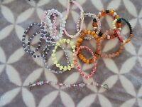 Lot 14 Assorted Styles Colors and Sizes Fashion Jewlery Bracelets    (3)