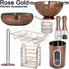 Rose Gold Kitchen Accessories Copper Effect Decor Kitchenware Essentials