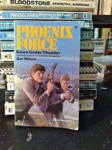 VINTAGE Phoenix Force #25: Thunder Down Under by Gar Wilson 1986 PB Pulp