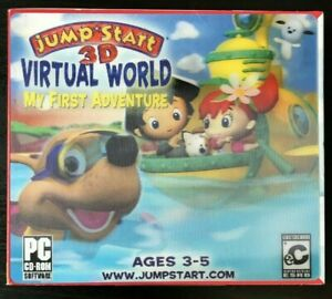 JumpStart 3D Virtual World: My First Adventure (Ages 3-5) PC-CD - NEW