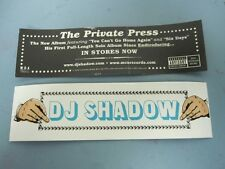DJ SHADOW 2002 PRIVATE PRESS promotional Sticker Flawless New old stock