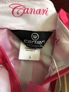 Canari: Cycling Racer X Bike Jersey — Cotton Candy PINK Wms Large — NWT $60