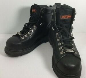 Harley-Davidson Women's Boots Size 10 Dipstick Steel Toed Biker Leather 81615