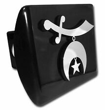 Masonic Chrome Metal Black Hitch Cover (Shriner)