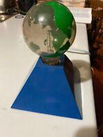 Globe glow light up minature electric Universal green blue