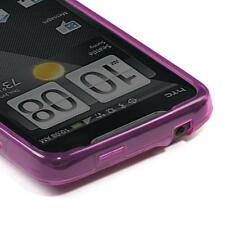 For HTC EVO 4G Hard FLEXI TPU Candy Skin Case Phone Cover Hot Pink