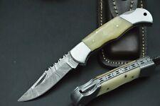 Taschenmesser Damastmesser Jagdmesser Messer Bowie Damast Kamelknochen TOP #24