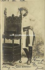 Jewish Movie Actress SARAH BERNHARDT, Judaica (1903) RPPC