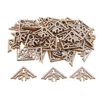 50 Pieces Wood Carved Corner Onlay Appliques for DIY Sewing Crafts