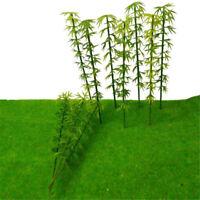 50X Plastic Bamboo Trees Model Park Garden Buildings Architecture Scene Layout