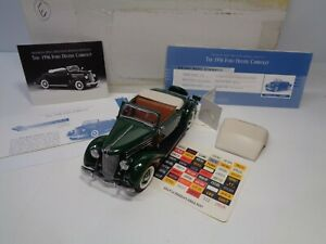 FRANKLIN MINT 1936 FORD DELUXE CABRIOLET CLEAN PREOWNED  W/DOCS LNIB  COMPLETE