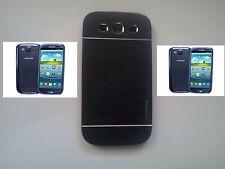 custodia cover case metallo guscio in alluminio per samsung galaxy S3 I9300 nero