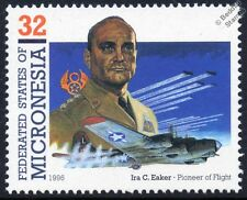 WWII USAAF Boeing B-17 Flying Fortress & General Ira Eaker Aircraft Stamp