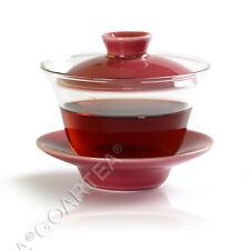 130ml Rosa Porcelana Vidro Transparente Resistente Ao Calor Kung Fu Gaiwan Pires & Xícara De Chá