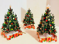 ORIGAMI POP CARDS Victorian Classic Style Christmas Tree 3D Pop Up Greeting Card
