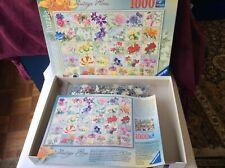 Ravensburger Quality Jigsaw Vintage Flora Alphabet Of Flowers 1000 Pieces