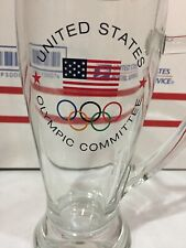 USA US United States Olympic Committee Glass Mug Stein Olympics Games Made Italy