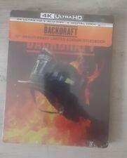 BACKDRAFT 30TH ANNIVERSARY 4k UHD BLU-RAY SteelBook+BLURAY+DIGITAL, SEALED.