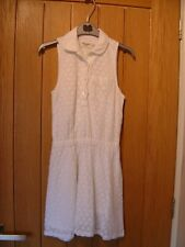 Abercrombie & Fitch White Lined Dress 9 - 10 years (Ref L) Ex Con