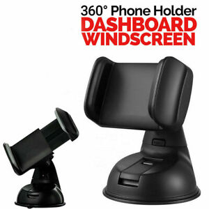 360 In Car Universal Phone Holder Dashboard Suction Mount Windscreen Stand