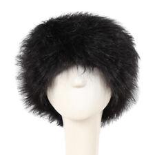 Women Lady Russian Fluffy Fox Fur Hat Headband Winter Earwarmer Ski Hat Faux E09