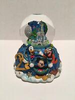 Vintage Disney Magic Kingdom Castle Music Box Snowglobe 2000 Celebrate Future