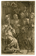 A Copper Engraving By Albrect Durer 1512 Christ Before Caiaphas