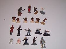 STAR WARS LOT PAINTED MICRO FIGURES, REBEL TROOPERS, JAWAS, DROIDS & MORE USED