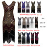 1930's 1920s Flapper Dress Gatsby Sequin Fancy 20s Party Wedding Evening Costume