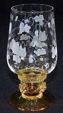 THERESIENTHAL - SHERRYGLAS Portweinglas Glas - BEERENNOPPEN Bernstein WEINRANKE