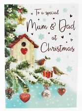 Christmas Card For Special Mum And Dad Greeting Verse Luxury Festive Cute Parent