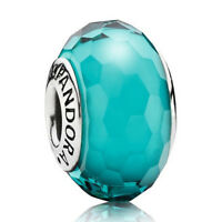 NEW! AUTHENTIC PANDORA Fascinating Teal Charm, Murano Glass Charm -  9160