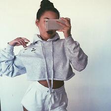 Women Hoodie Pullover Sweatshirt Jumper Sweater Crop Top Coat Sports Tops lot C