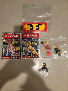 Lego Ninjago Minifigures Lot of 5 Kai Nya Cole Lloyd Bad Guy The Golden Weapons