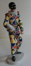 """Royal Copenhagen """"Arlecchino"""" Commedia Dell'Arte Figurine"""