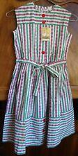 robe tablier fille coton marque Castille vintage année 50' / 60 '