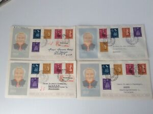 Netherlands 1958 4 x FDC SUMMER STAMPS high catalog