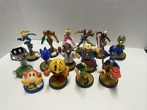 Nintendo Amiibo Lot Of 15 Super Smash Bros Figures See Adult Owned Great