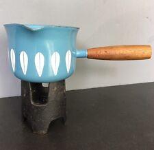 Vintage Cathrineholm LOTUS blue Enamel Butter Gravy WARMER MCM Dansk Arabia Era